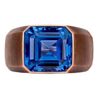 HEMMERLE-ring-white gold-bronze-saphire