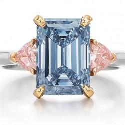 12 octobre 2021: $4,502,277 pour un diamant bleu de 3.01ct et 2 diamants roses de 0.18 et 0.15ct