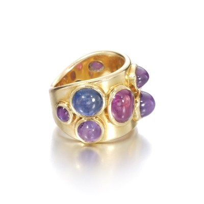 #JAR #Coloured sapphire #ruby #ring