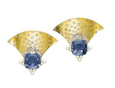 #JAR #Oriental Pearl #Diamond #Earclips
