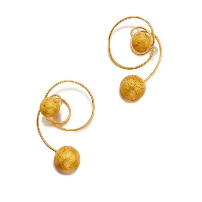 #JAR #Pair of Titanium and Glass 'Carnaval a Venise' #Earclips