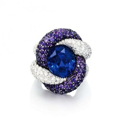 #JAR #ring #diamonds #sapphires