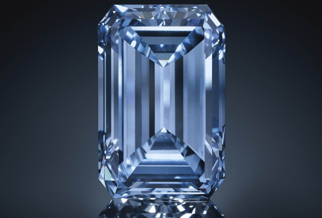 Oppenheimer blue diamond 14.62ct. Source Christie's