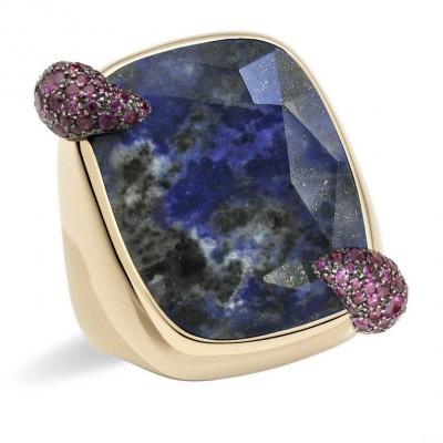 POMELATO-denim-lapis-lazuli-ring