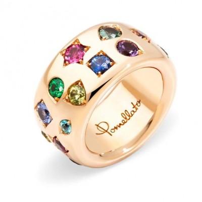 #POMELLATO #pink tourmaline #orange sapphire #blue sapphire #green sapphire #tsavorite