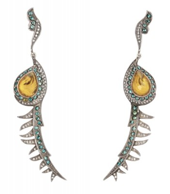 #SEVAN BICAKI #Colored Diamond #Diamond #Citrine #Gold #Silver #Earrings #Diamant