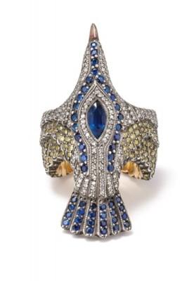 #SEVAN BICAKI #Diamond #Sapphire #Gold #Silver #'Seagull' Ring #Diamant #Saphir #Or #Argent