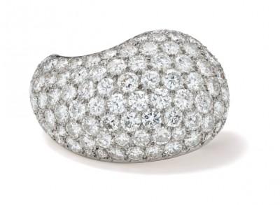 #SUZANNE BELPERON #Diamond #Platinum #Gold #'Paisley' Brooch #Diamant #Platine #Or #Broche
