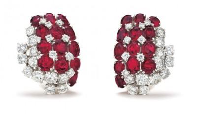 #SUZANNE BELPERON #Ruby #Diamond #Platinum #Gold #Earrings #Rubis #Diamant #Platine #Or #Boucles d'oreilles