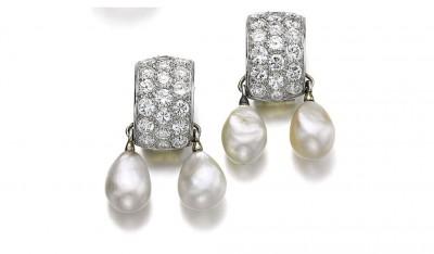 #SUZANNE BELPERON #earrings #diamonds #pearls