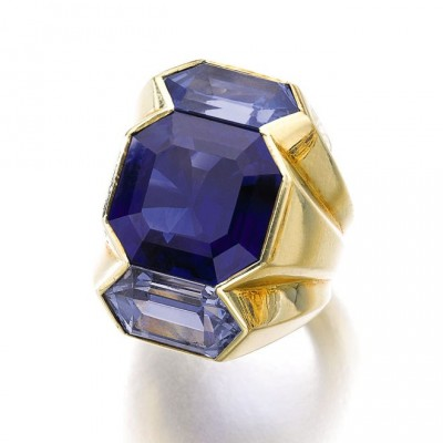 #SUZANNE BELPERON #ring #sapphires #1960