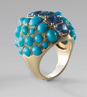 #SUZANNE BELPERRON #turquoise #sapphire #saphir #Ring #Bague