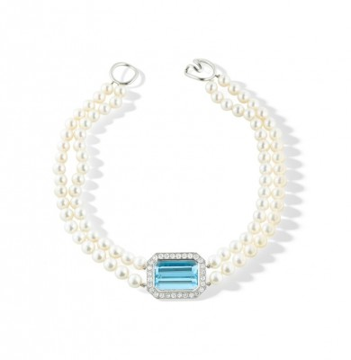 #TIFFANY #Collier #Aigue-marine #PerlesDeCulture #Diamants #Aquamarine #CulturedPearl #Diamond
