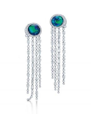 #TIFFANY #Diamonds #opals #earrings