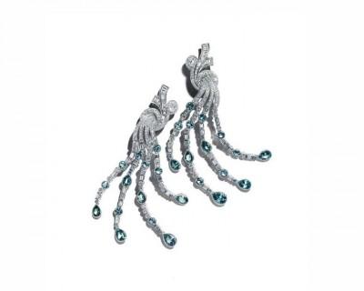 #TIFFANY #Diamonds #tourmalines #earrings