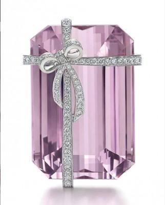 #TIFFANY #Kunzite #Diamonds #Brooch