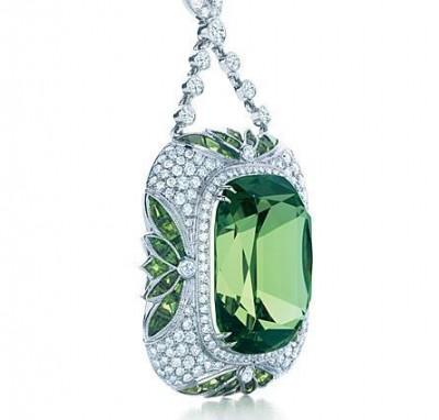 TIFFANY-diamants-tsavorite-pendentif
