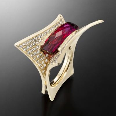 ADAM NEELEY #Rubellite #diamonds #Ring