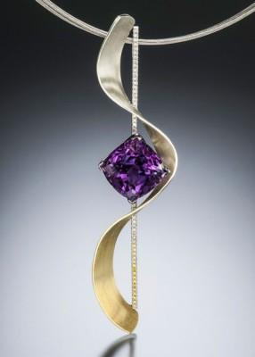 #ADAM NEELEY #Accento Amethyst Pendant #Diamonds # Diamant