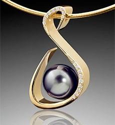 #ADAM NEELY #Pearl #Perle #Diamond #Diamant #Pendant #Pendentif