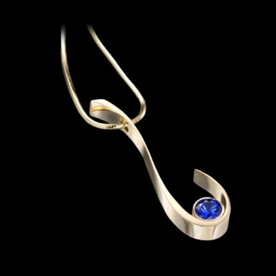 #ADAM NEELY #Sapphire #Pendant #Gold #saphir #or