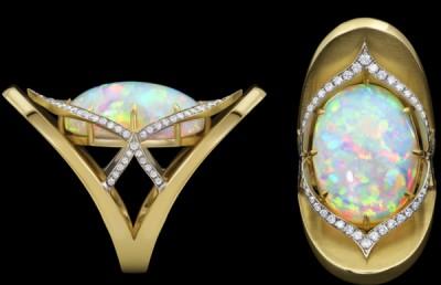 ADAM NEELY #opal #diamond #ring #gold