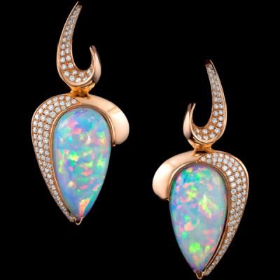 ADAM NEELY #opals #diamonds #earrings #gold