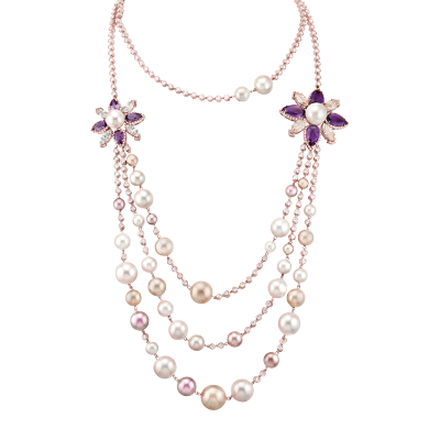Collier perles lumières de Paris - Paris's light pearls collar