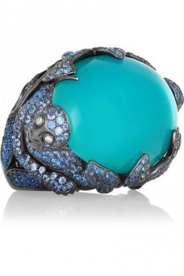 LYDIA COURTEILLE-sapphires-blue agate - saphirs - agate bleue