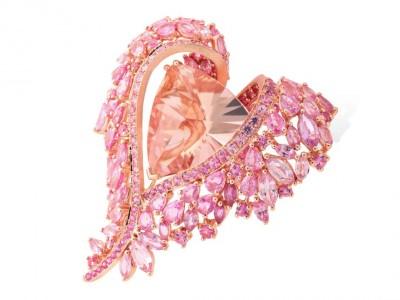 LYDIA COURTEILLE_la_vie_en_rose_morganite_bracelet-sapphires