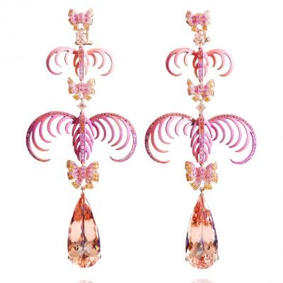 LYDIA COURTEILLE_morganite_earrings_sapphires
