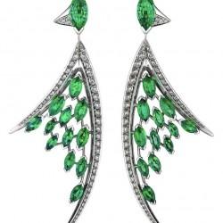 SHAUN-LEANE-Boucles-doreilles-collection-Aerial-diamants-blancs-émeraudes