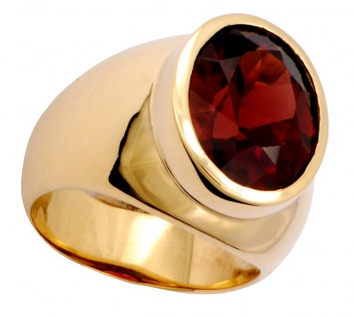 SIKIRDJI Laurent-ring-gold-spessartite garnet
