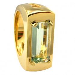 SIKIRDJI Laurent-ring-green moonstone from Tanzania
