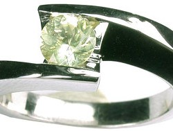 SIKIRDJI Laurent-ring-white gold-datolite from Russia