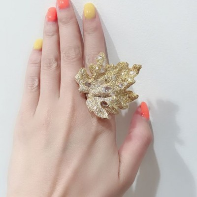 Bague feuille - Leaf Ring, Cindy Chao