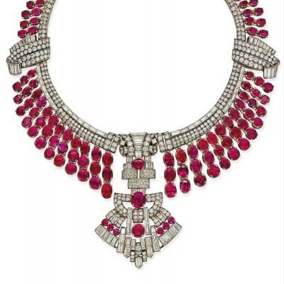#ArtDeco #Necklace #NaturalBurmese#Rubies