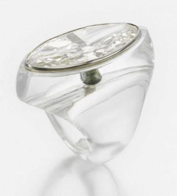 BELPERON-cristal de roche-diamant navette