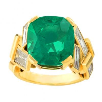 BELPERRON Suzanne-émeraude-diamants-bague