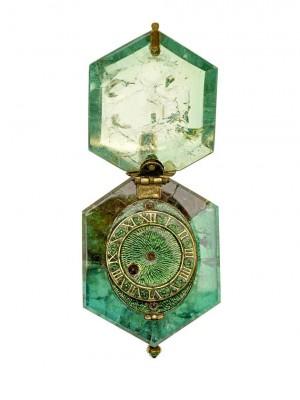 BELPERRON Suzanne-Cheapside Hord 1600 Clock-émeraude