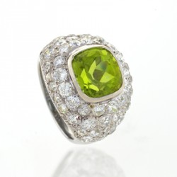 BELPERRON Suzanne-péridot-diamants-bague
