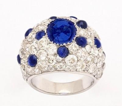 BELPERRON Suzanne-saphirs-diamants-bague