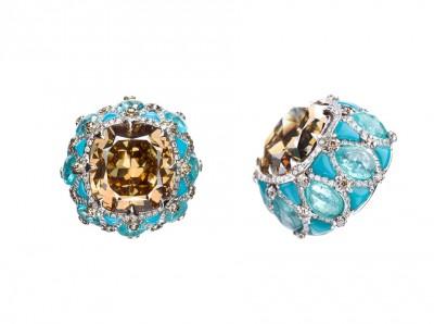BOGHOSSIAN-diamants champagne-diamants-turquoise-tourmaline Paraiba