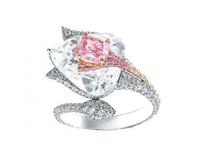 BOGHOSSIAN-5 ct pink diamond-white diamonds