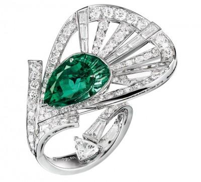 BOUCHERON-émeraude-diamants