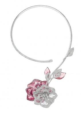 BOUCHERON-nacre-cristal de roche-tourmaline rose
