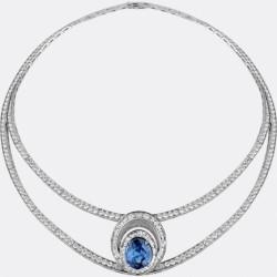 BREGUET-collier-Reine des Alpes-diamants-saphir-platine