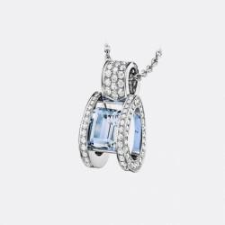 BREGUET-pendentif-Reine des Alpes-diamants-aigue marine