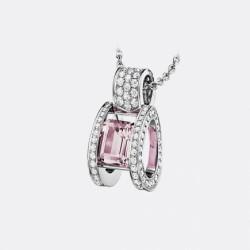 BREGUET-pendentif-Reine des Alpes-diamants-morganite
