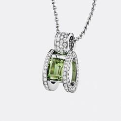 BREGUET-pendentif-Reine des Alpes-diamants-tourmaline verte-or blanc